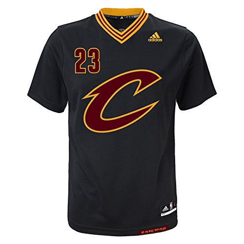 LeBron James Cleveland Cavaliers Adidas Youth Replica Black Alternate Jersey  outlet fbae073ec