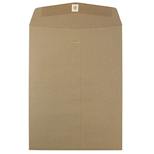 pen End Envelopes with Clasp Closure - Brown Kraft Paper Bag Recycled - 25/pack (Simpson Kraft Recycled Envelopes)