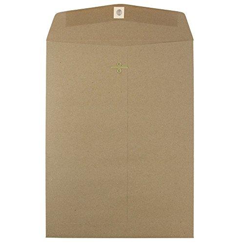 JAM PAPER 9 x 12 Premium Envelopes with Clasp Closure - Brown Kraft Paper Bag - 25/Pack