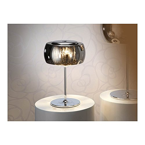 Schuller Spain 508516I4L Modern, Art Deco Chrome Dome Table Lamp 3 Light Living Room, bed room, Study, Bedroom LED, Mini Dome Chome Table Lamp | ideas4lighting by Schuller