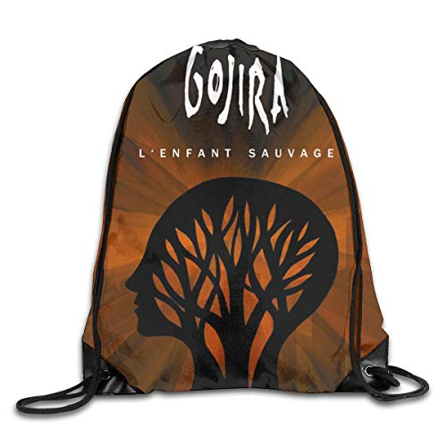 Xuanuan Gojira L'ENFANT Sauvage Limited Unisex Fashion Lightweight Drawstring Backpack for Sports Gym Travel School