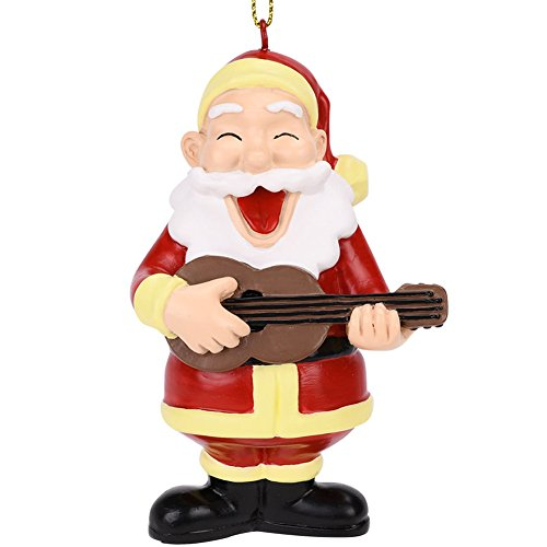- Tree Buddees Rockin Around The Christmas Tree Guitar Playing Santa Ornament