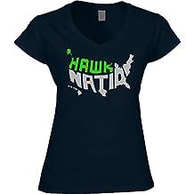 America's Finest Apparel Seattle Hawk Nation Shirt - Women's