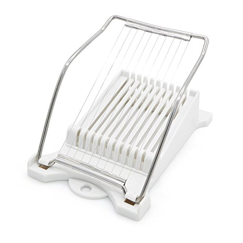 Cheese Slicer Boiled Egg Slicer Luncheon Meat Slicer Fruit Slicer Soft Food Slicer Sushi Cutter Canned Meat Slicer with 10 Cutting Wire in Stainless Steel