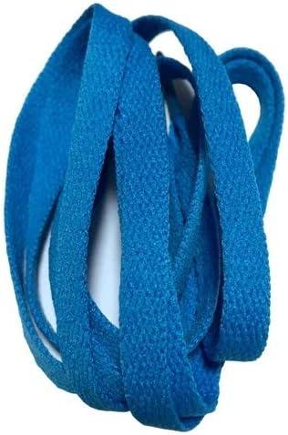 XJYWJ ワイドスニーカースポーツシューズフラット靴ひも靴ひもの8ミリメートル24色80センチメートル/ 100センチメートル/ 120センチメートル/ 140センチメートル/ 160センチメートル (Color : No 16 sky blue, Size : 80cm)