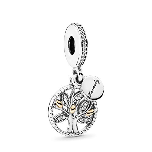 Pandora Women's Bead Pendant Silver and Gold