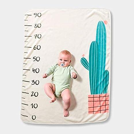 Manta mensual bebé motivo cactus