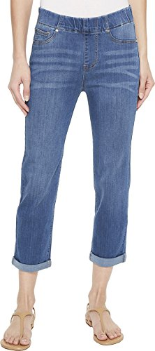 (Liverpool Women's Chloe Rolled Cuff Pull-On Capris in Silky Soft Denim in Coronado Mid Coronado Mid 6 23)