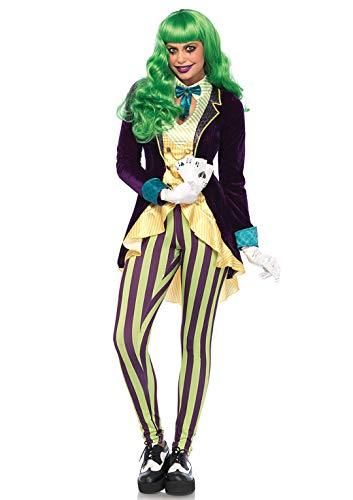 Comic Book Villain Costumes (Leg Avenue Women's Evil Trickster Villain Costume, Multi,)