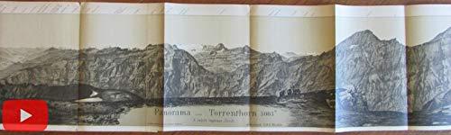 Switzerland Swiss Alps 1880's Torrenthorn 8' long panoramic view map