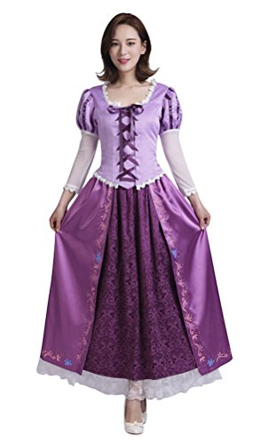 COSKING Rapunzel Costume for Women, Deluxe Halloween Princess