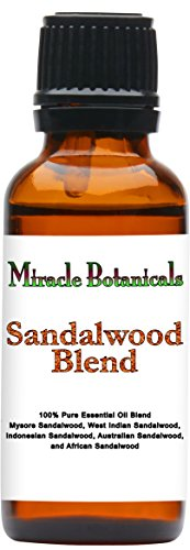 Miracle Botanicals Sandalwood Blend - 100% Pure Essential Oil Blend - Therapeutic Grade - 30ml by Miracle Botanicals