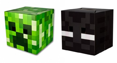 Official Minecraft 12 Creeper Enderman Exclusive Head Costume