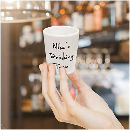 Custom Your Text Here Personalized Lettering Ceramic Shot Glass Cup Customizable  
