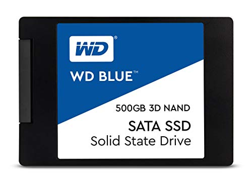 WD Blue 3D NAND 500GB PC SSD - SATA III 6 Gb/s, 2.5