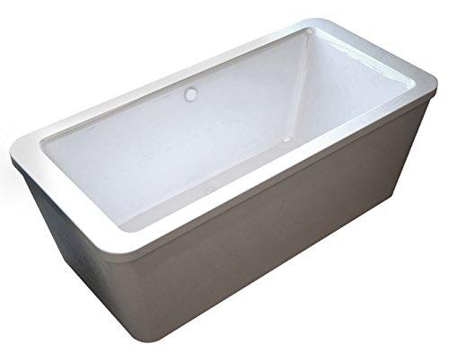 Lautrec rectangular freestanding soaker bathtub soaking tub for Best soaker tub for the money