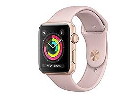 Apple Watch Series 3 Aluminum Case Sport 42mm Gps (Gold Al Case W Pink Sand Sport Band)