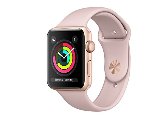 Apple watch series 3 Aluminum case Sport 42mm GPS (Gold Al case w/ Pink sand sport band)