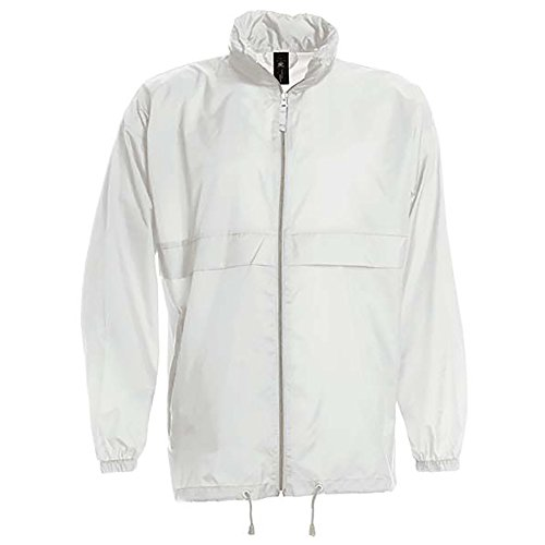 B&C Sirocco Mens Lightweight Jacket/Mens Outer Jackets (M) (White)