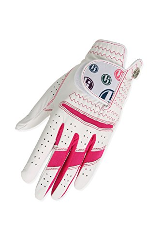 HJ Glove Women's Hot Pink Daisy Golf Glove, Medium, Left Hand