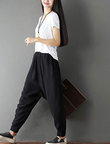 Sportivi pantaloni Black Basic Unita Pantaloni Chinoiserie Tinta cinesi Yfltz 4XPaxfwx