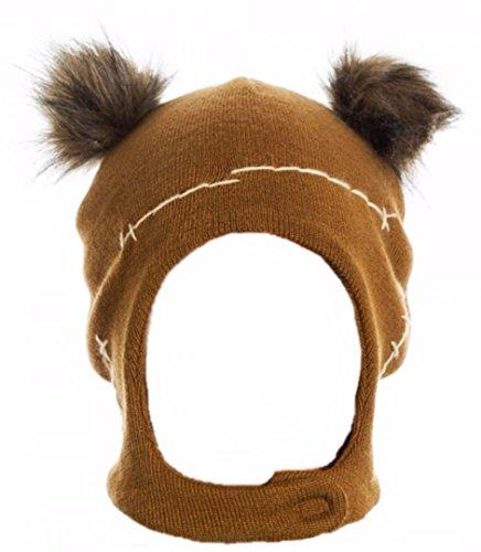 [Star Wars EWOK Character Mascot Laplander Adult Size Beanie HAT] (Ewok Star Wars Costume)