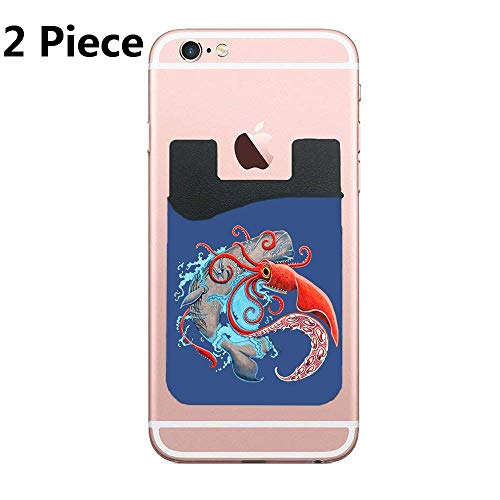 (TysoOLDPhoneC Colossal Squid Adhesive Silicone Cell Phone Wallet/Card Holder for iPhone, Android, Samsung Galaxy, Most Smartphones - 2 Piece)
