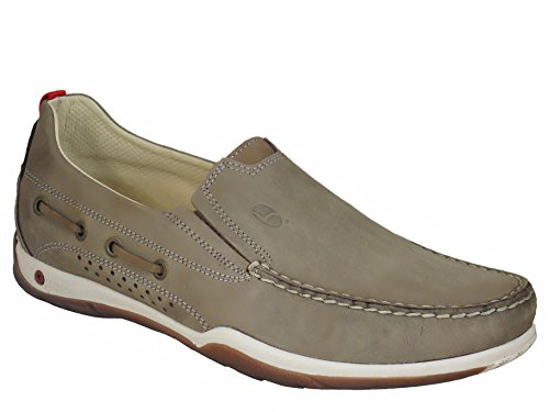 Grisport Mens Aerata Light Step Quality Leather Deck Shoes Taupe r9x73m