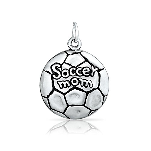 Bling Jewelry Soccer Mom 925 Sterling Silver Medallion