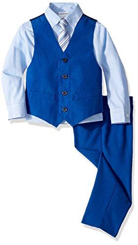 Van Heusen Boys' Toddler 4-Piece Formal Dresswear Vest Set, Classic Royal Blue, 3T