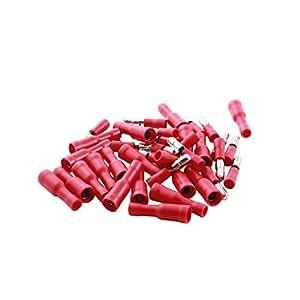 40 x aislamiento Rojo Hombre Mujer Bullet Crimp Terminal de alambre 16-14AWG