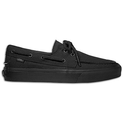 Vans Adult Zapato Del Barco Black/Black Canvas Shoes 6.5 Men (US) = 8.0 Women