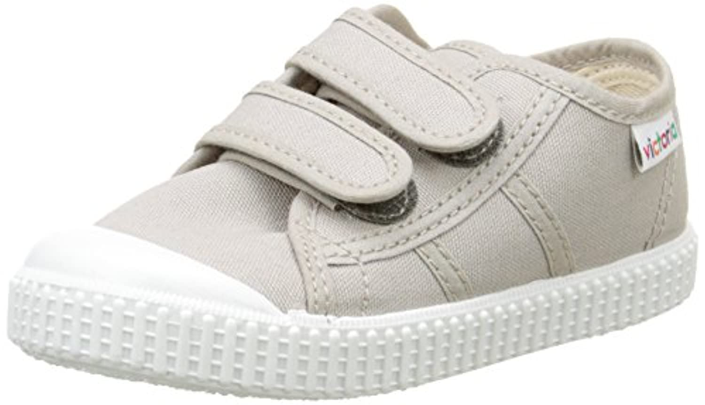 Victoria Unisex Kids' Basket Lona Dos Velcros Low-Top Sneakers grey Size: 7 Child UK