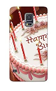 Premium Protection Birthday Cake Case Cover With Design For Galaxy S5- Retail Packaging