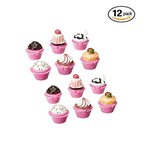 Ifavor123 Cupcake Novelty Lip Gloss Lip Balm Set – Assorte