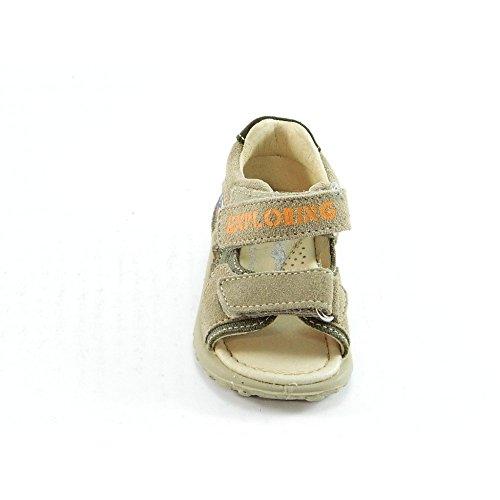 Falcotto - Falcotto sandaletto bambino beige velcro strappi camoscio - Beige, 20