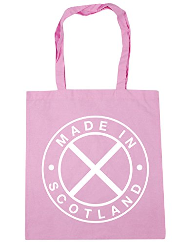 HippoWarehouse Made In Scotland Tote Shopping Gym Beach Bag 42cm x38cm, 10 litres Classic Pink