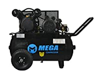2 HP MegaPower Horizontal Air Compressor, Single Stage, 20 Gallon MP-2020EH