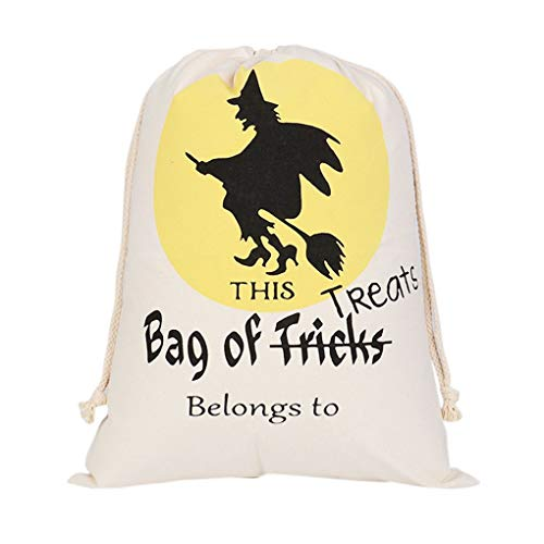 Gift Bags Wrapping Supplies - Halloween Decor Drawstring Beam Port Sack Canvas Printing Bags Trick Or Treat With Pumpkin - Flamingo Snack Canvas Box Goldfish Dog Kraft Basketball Set Gilet