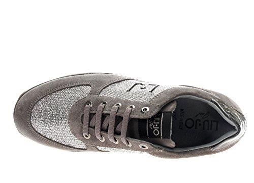 B23296 JO scarpe LIU donna GIRL Grigio zeppa sneakers UZ7xqwxRY