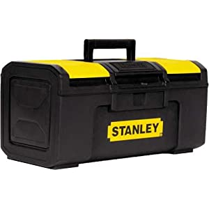 "Stanley Hand Tools STST16410 16"" Black & Yellow Auto Latch Tool Box"