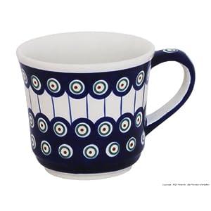Boleslawiec Pottery Mug, 0.50 L, Original Bunzlauer Keramik, Decor 8