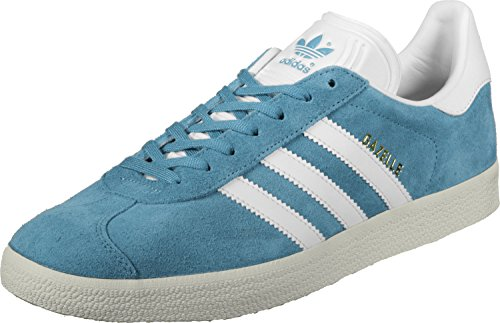 adidas Gazelle - Tobillo bajo Hombre Gris (Tactile Steel/footwear White/gold Metallic)