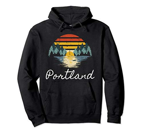 Portland Oregon City Travel Vacation Family Group Gift  Pullover Hoodie