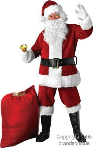 Deluxe Velvet Santa Claus Costume Suite (Standard)