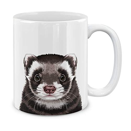 (MUGBREW Cute Animal Ferret Pet Ceramic Coffee Gift Mug Tea Cup, 11)