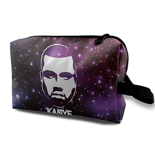 Super ACHILD Women Kanye-Rhythm-West-Melody-Albums Toiletry Travel Bags Portable Cosmetic Bags