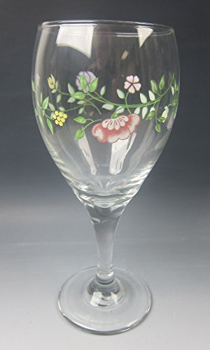Johnson Brothers Glassware SUMMER CHINTZ 12 Oz. Goblet(s) EXCELLENT