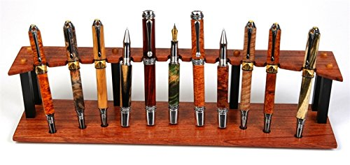 Bubinga and Ebony Upright Stand - 11 Pen by Lanier Pens