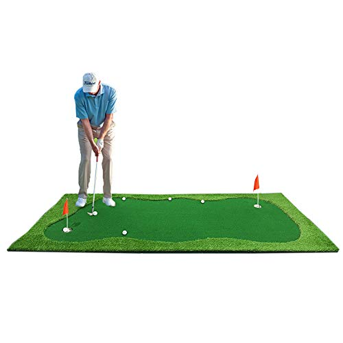 Synturfmats Golf Putting Green Mat Indoor/Outdoor Golf Training Aids System Real-Like Artificial Grass Golf Simulator Putting Trainer Set for Home, Office Practise Size (Indoor Golf Simulators)